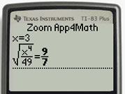 TI calculator with Zoom Math - easy!