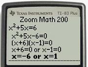 Zoom Math 200 Algebra